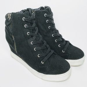 Steve Madden Lynn Girls High Top Double Zip Shoes